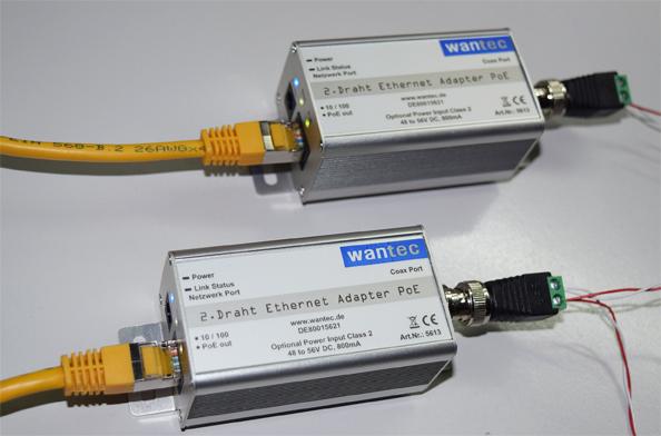 2wIP Netzwerk 90MBit/s über 2-Draht mit PoE